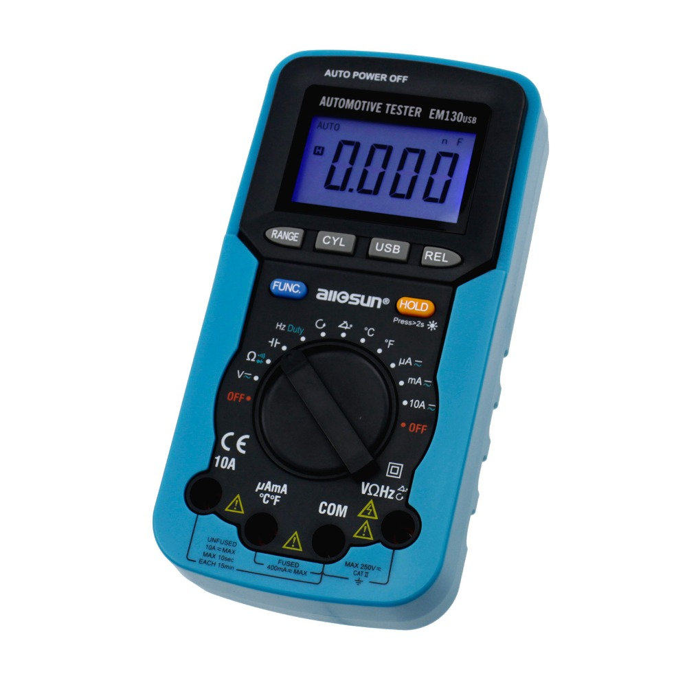 Automotive Digital Multimeter Autorange Portable tool with Dwell Angle AC DC Voltage Current Capacitance ALL SUN
