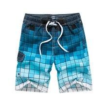 6a61886a32 Augmenter la Confiance De Mode Hommes de Shorts de Plage D'impression de  blanc Plaid