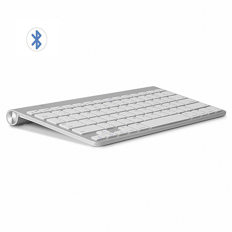 US $18 12 30% OFF|High Quality Ultra Slim Bluetooth Keyboard Mute Tablets  and Smartphones For Apple Wireless Keyboard Style IOS Android Windows-in