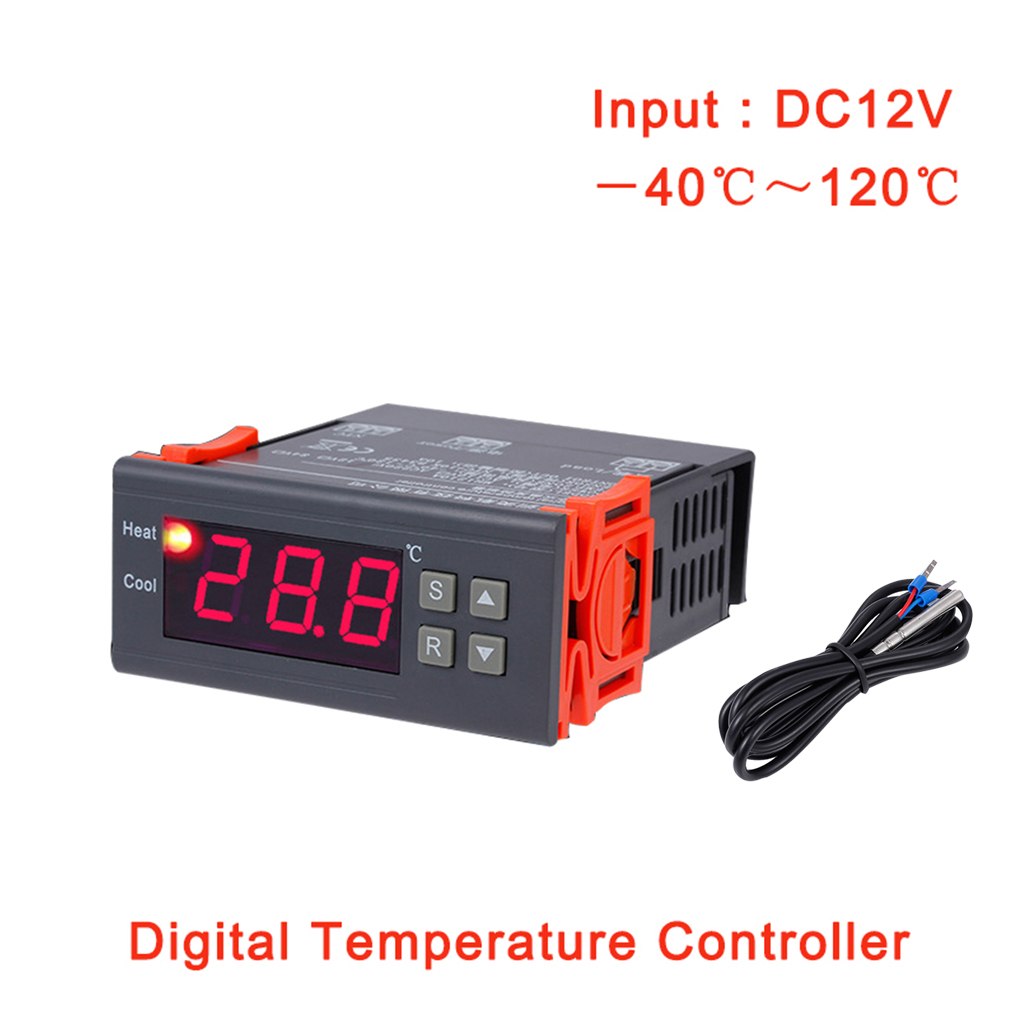 MH1210A DC 12V Thermostat Regulator Digital LCD Refrigerator Temperature Controller Thermocouple Controller with Sensor digital thermostat 220v temperature controller thermocouple sensor termostato digitale thermometre estacion metereologicamh1210a