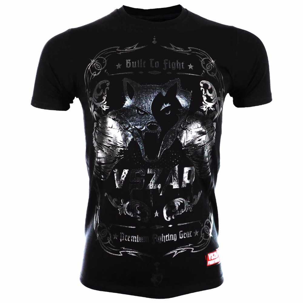 Sports & Entertainment Boxing Jerseys Vszap Fight Muay Thai Muay Thai Combat Short Sleeve T-shirt Broadcasting Jiu Jitsu Fitness Training Clothes Mma Boxing Shirts Firm In Structure