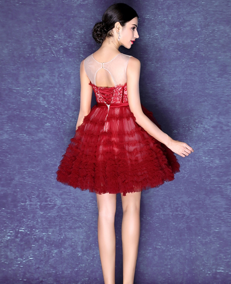 Encantador Red Short Cocktail Dresses Composición - Vestido de Novia ...