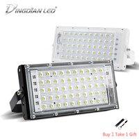 LED 50W 홍수 빛 220V 야외 방수 완벽 한 전원 투광 조명 LED 차가운 흰색 따뜻한 흰색 스포트 라이트 LED 현금 빛