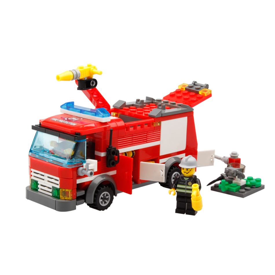 206pcs FireTruck Building Blocks Compatible Legoed city Firefighter figures Bricks Educational DIY Bricks toys for children boy hot sale 1000g dynamic amazing diy educational toys no mess indoor magic play sand children toys mars space sand
