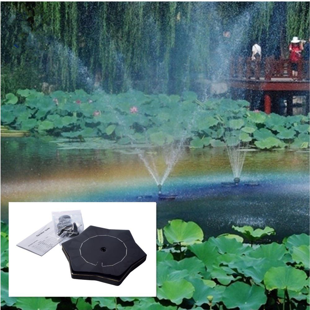 LanLan Newest Outdoor Starfish Shape Solar Fountain Solar Floating Water  Fountain Pool Garden Pond Fountain Garden Decoration
