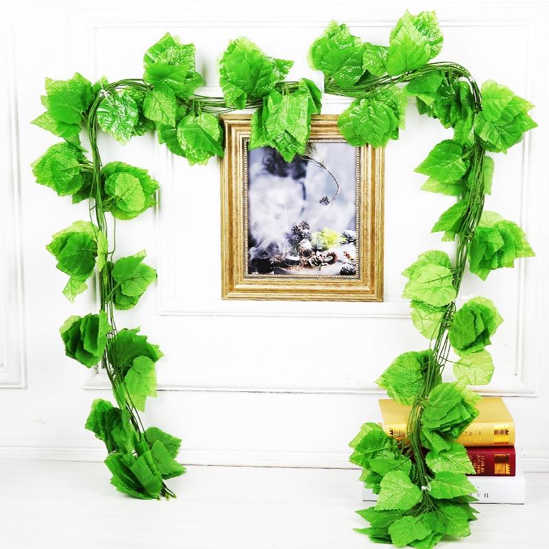 A 12pcs/set Rattan Christmas Decorations Plant Leaf