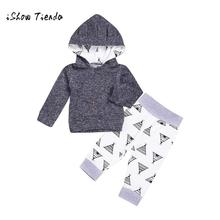 baby clothing boy Girl clothing set Newborn Infant Baby Print Hoodie Tops+Pants 2Pcs Outfit Clothes Set(China)