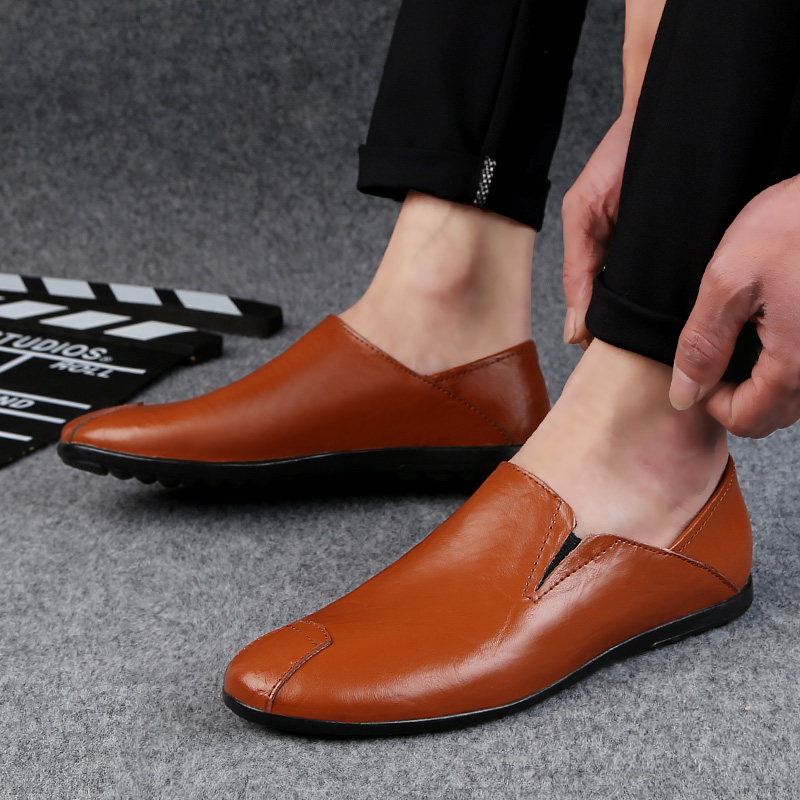 2018 new men's casual shoes loafers men platform breathable four - Men's Shoes - Photo 4