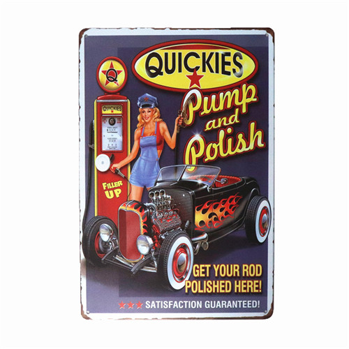 Quickies Car Auto Retro Funny Vintage metal sign