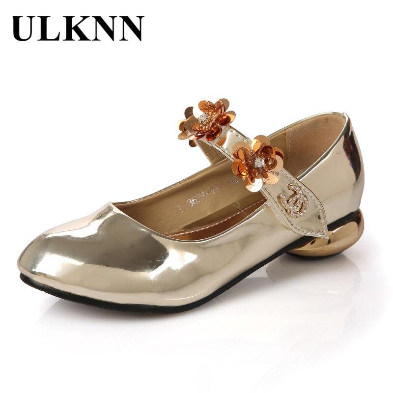 Ulknn Kinder Runde-ferse Schuhe Für Mädchen Tanzschuhe Kinder Mädchen Mit Low Heel Kleid Schuhe Seltsam Stil Leder Blumen Hoher Standard In QualitäT Und Hygiene