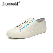 цены Genuine Leather White Shoes High Quality all-match cowhide breathable sneaker fashion boots men casual shoes, Leisure shoes