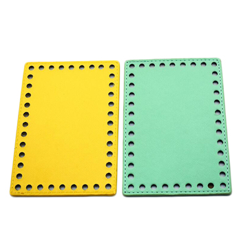 10pcs Bottoms for Knitting Bag Patent Leather Accessories Rectangle Bottom with Holes DIY Handmade Bags 16x11cm
