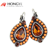 цены на Free Shipping Min Order $10(Mix Order) 2014 New Arrival Women Ethnic Vintage Colorful Beads&Rhinestones Clip Earrings Jewelry  в интернет-магазинах