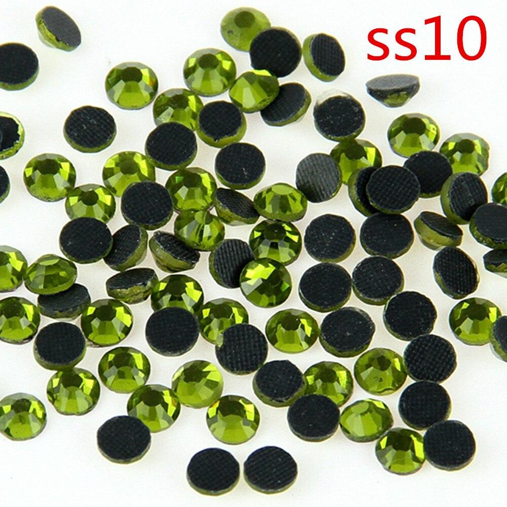 SS10 2 7 2 9mm Olivine 500 Gross DMC Crystal Hot Fix Stone Glass Strass Trimming