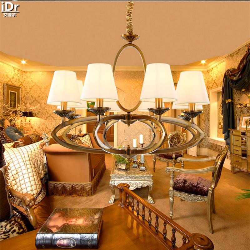 Amerikanischen Kupfer Lampe Wohnzimmer Schlafzimmer Lndlichen Villa Vintage Beleuchtung Minimalistischen Studie Deckenleuchten OLU 0108