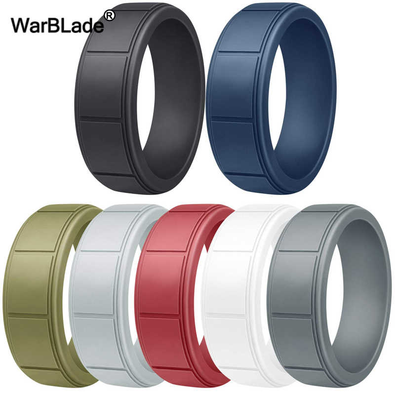 New Food Grade FDA Silicone Rings For Men Wedding Rubber Bands Hypoallergenic Flexible Sports Antibacterial Silicone Finger Ring