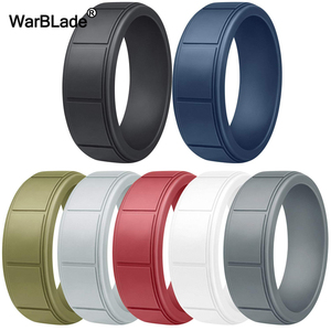 Image 1 - New Food Grade FDA Silicone Rings For Men Wedding Rubber Bands Hypoallergenic Flexible Sports Antibacterial Silicone Finger Ring
