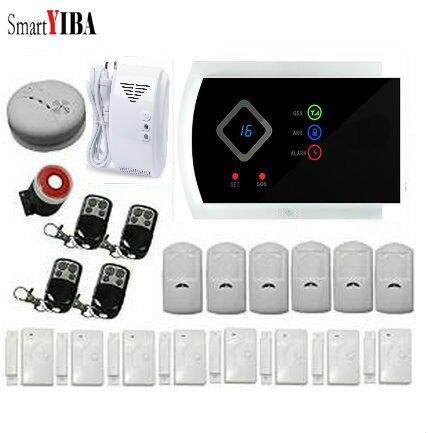 SmartYIBA 99 Wireless Zones Gsm SMS Burglar font b Alarm b font System Gas Smoke Fire