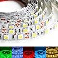 O envio gratuito de 5 m/lote 300led 5050SMD faixa de luz LED flexível DC12V tira conduzida 60 leds / m não à prova d ' água