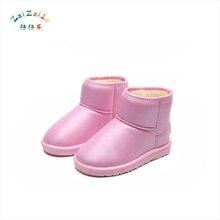 2017 children snow boots women winter waterproof thickening warm cylinder anti-skid cotton boots wear comfortable boys boots