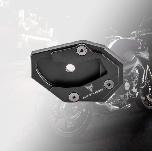 Motorcycle Kickstand Side Stand Enlarger Plate Extension Pad For Yamaha MT09 2013-2018 FZ09 2013-2017 MT-09 Tracer FZ-09