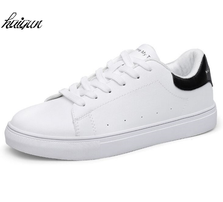 Women Flats Shoes New Fashion Casual Platform Solid PU Leather Classic Cotton Women Casual Lace-Up  spring White Shoes Sneakers free shipping 2017summer autumn new fashion women shoes casual flats solid breathable simple women casual white shoes sneakers