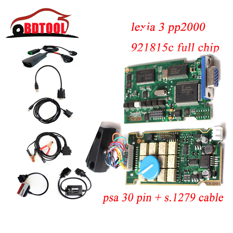 Top Quality Diagbox V7.83 V7.76 Full Chip 921815C Lexia3 Lexia 3 PP2000 for C itroen C4 P eugeot 307 with PSA 30pin+S1279 Module