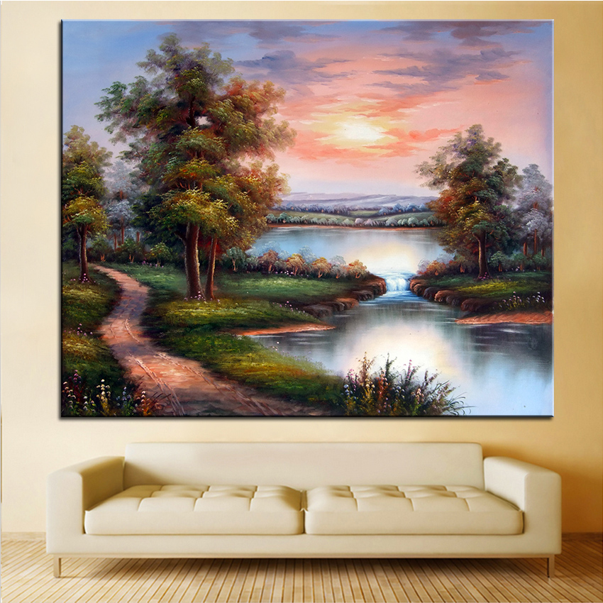 Extra Large Wall Painting Of Clouds Home Office Decoration Paint