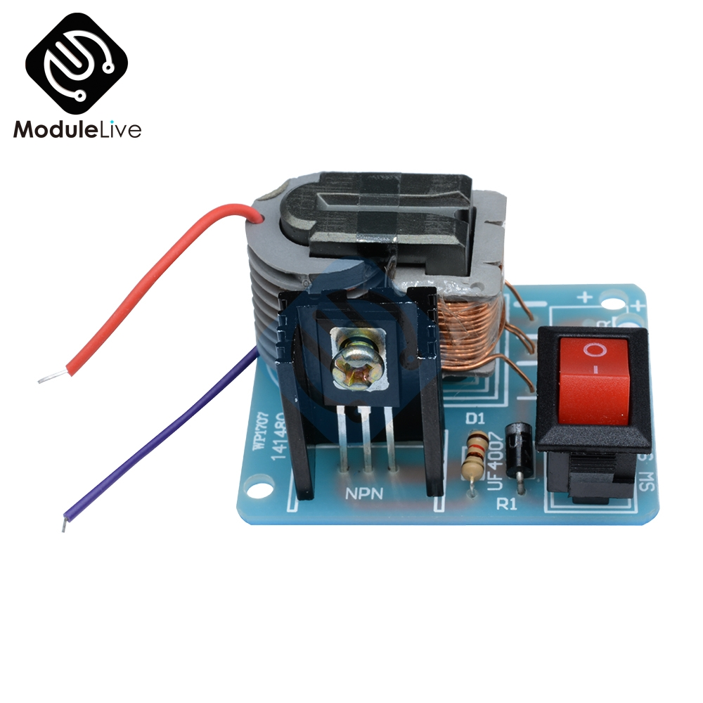 15KV High Voltage Generator Step-up Inverter Arc Cigarette Ignition Coil Module Transformer Electronic Parts Suite 3.7V DIY Kit 2cm super arc 3 7v 6v high voltage pulse arc generator inverter step up boost transformer ignition coil module