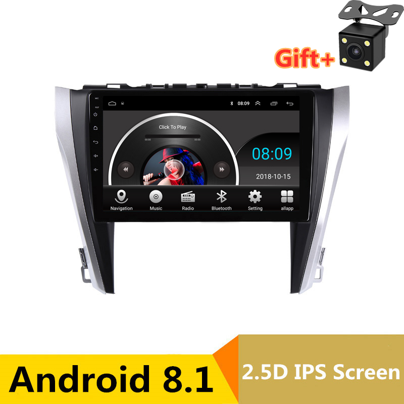 "10"" 2.5D IPS Android 8.1 Car DVD Multimedia Player GPS For Toyota camry 2015 2016 2017 audio car radio stereo navigation"