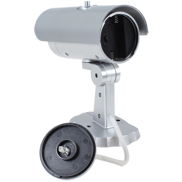 Waterproof Outdoor Indoor 18 False IR LEDs Emulational Fake Decoy Dummy CCTV Camera video Surveillance with Red Blinking Light