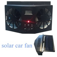 new coming 12V black Solar Sun Power Car Auto Air Vent Cool Fan Cooler Ventilation System Radiator car Air WITHOUT BATTERY