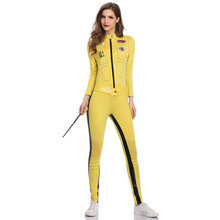 Umorden Kill Bill The Bride Beatrix Kiddo Cosplay Costume Kung Fu Jumpsuit for Women Halloween Carnival Mardi Gras Costumes