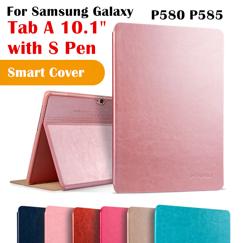 kaku tab a6 10 1 magent flip cover for samsung galaxy tab. Black Bedroom Furniture Sets. Home Design Ideas