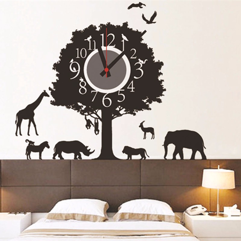 Online buy wholesale self adhesive wall clock from china - Decoration murale auto adhesive ...