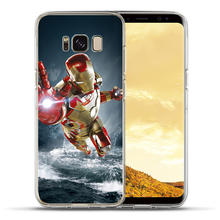 Luxury Marvel Avengers Case For Samsung S8 S9 Plus Note 8 soft Case For Coque Samsung Galaxy S6 S7 Edge S8 S9 Plus Cover