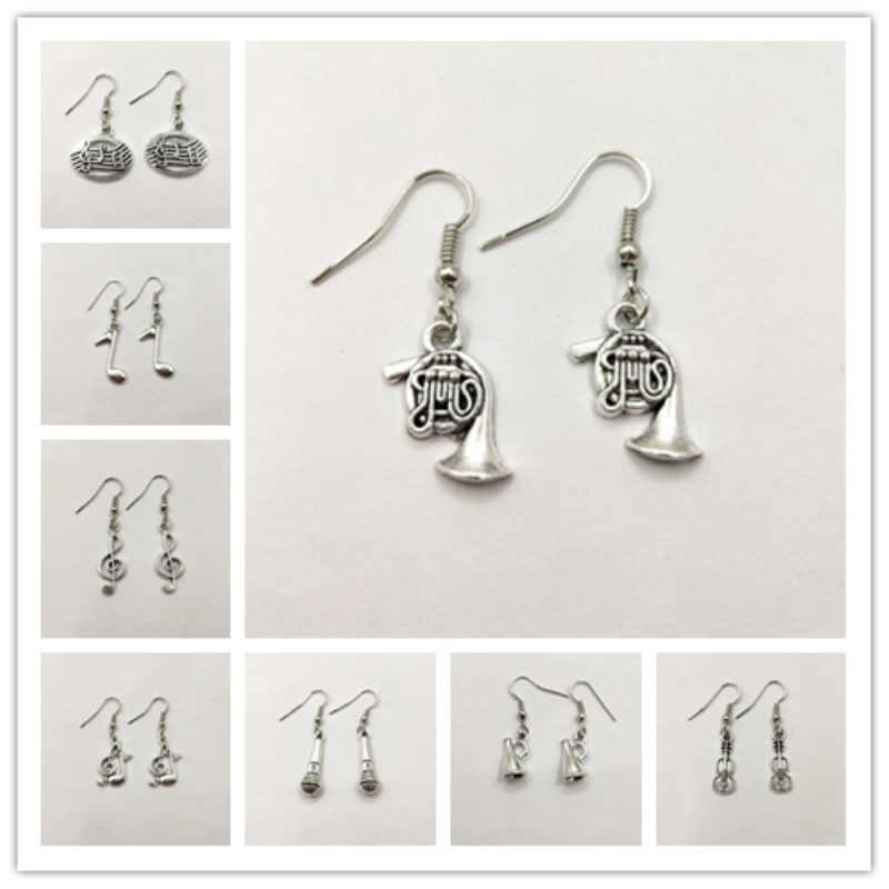 Treble Clef Earrings,Music Earrings,Guitar Earrings, Music Lover Earrings