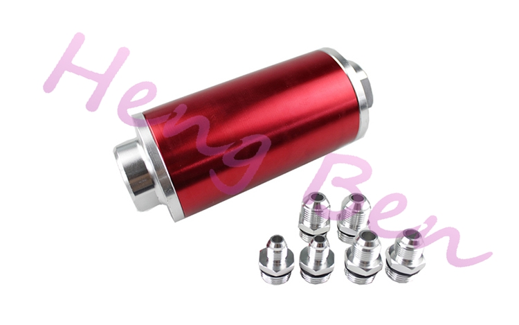 Racing Ready Inline Aluminum Fuel Filters AN6//AN8//AN10 with 60 Micron Element