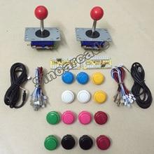 Arcade game KIT for 2 players 2 zero delay USB encoder 2 Zippy style joystick 14 BL-30 push buttons