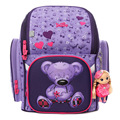High Quality Delune Birthday Gift Boys Shcool Bags 2016 Children Cartoon Bear SchoolBag Backpack Girls Orthopedic Mochila Menino