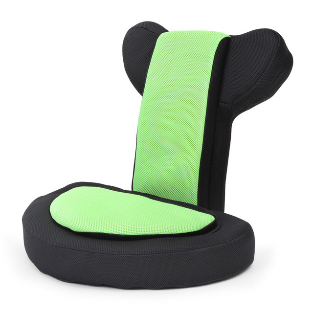 Video Games Sofa Mesh Gaming Chairs for Adults Kids - Padded Memory Foam Back Lumbar Support - 14 Angle Adjustable Floor Chair image