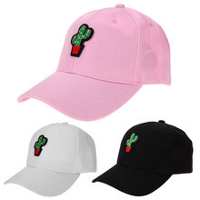 7914f8b73d5 Spring Women Cap Snapback Pink Cactus Embroidery Dad Hat Men Summer  Baseball Caps Hip Hop Hats For Girls Casquette Homme bone