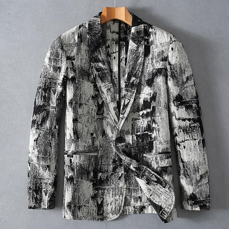 2019 mode haute qualité lin jeunes hommes veste nouveau Style printemps automne pur coton lin jolie pochette costume hommes taille MLXL2XL3XL-in Blazers from Vêtements homme    1