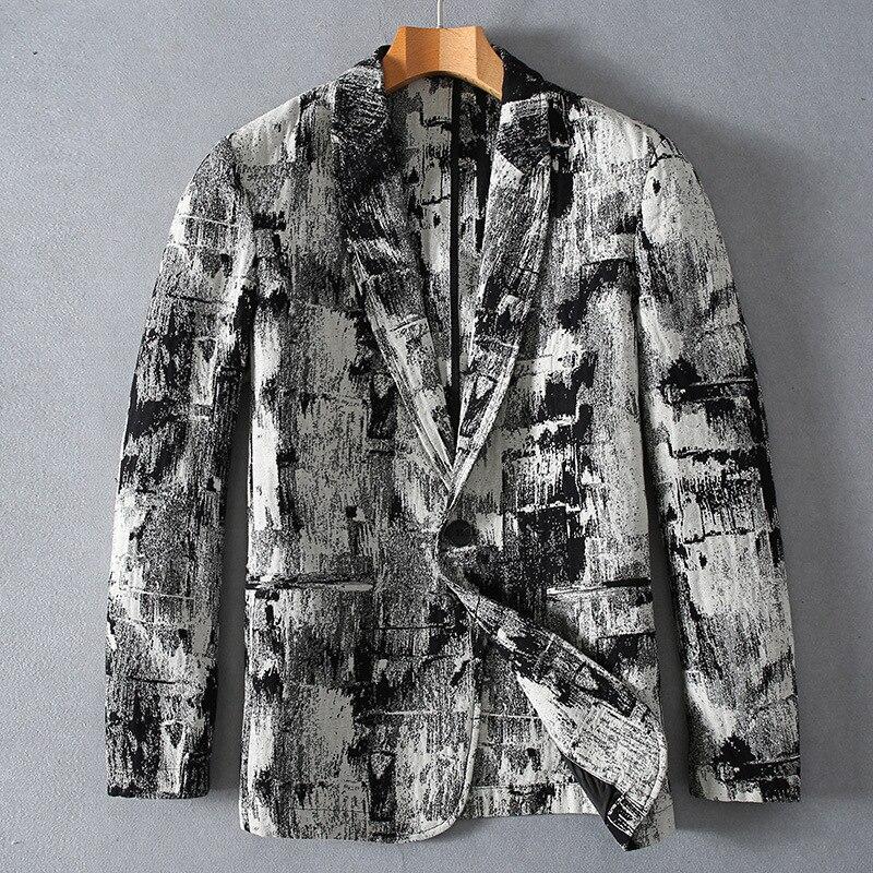 2019 الأزياء عالية الجودة الكتان الشبان سترة جديد نمط الربيع الخريف القطن الخالص الكتان عارضة سترة بدلة الرجال حجم MLXL2XL3XL-في السترات من ملابس الرجال على  مجموعة 1