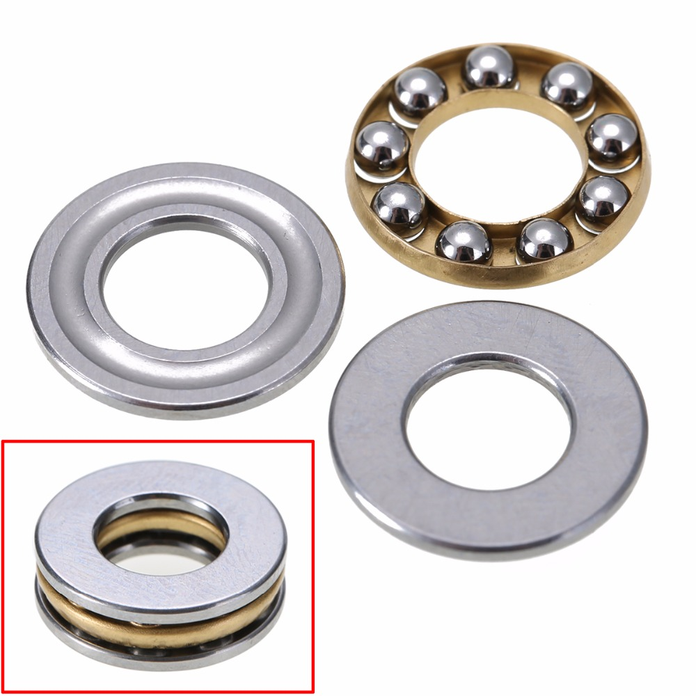 10pcs/set High Precision Miniature Thrust Bearing F8-16M Axial Metal Ball Bearings 8x16x5mm 10pcs lot 688zz miniature ball bearings metal double shielded miniature metal steel bearing 8x16x5mm