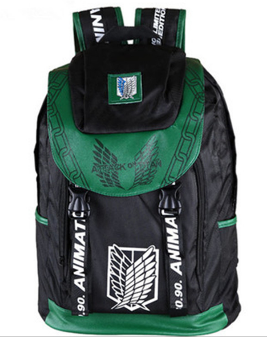 Attack On Titan Backpack School Bag Shoulders Bag Printing Backpack Men Women Travel Bag Shingeki No Kyojin Cosplay Backpack недорго, оригинальная цена