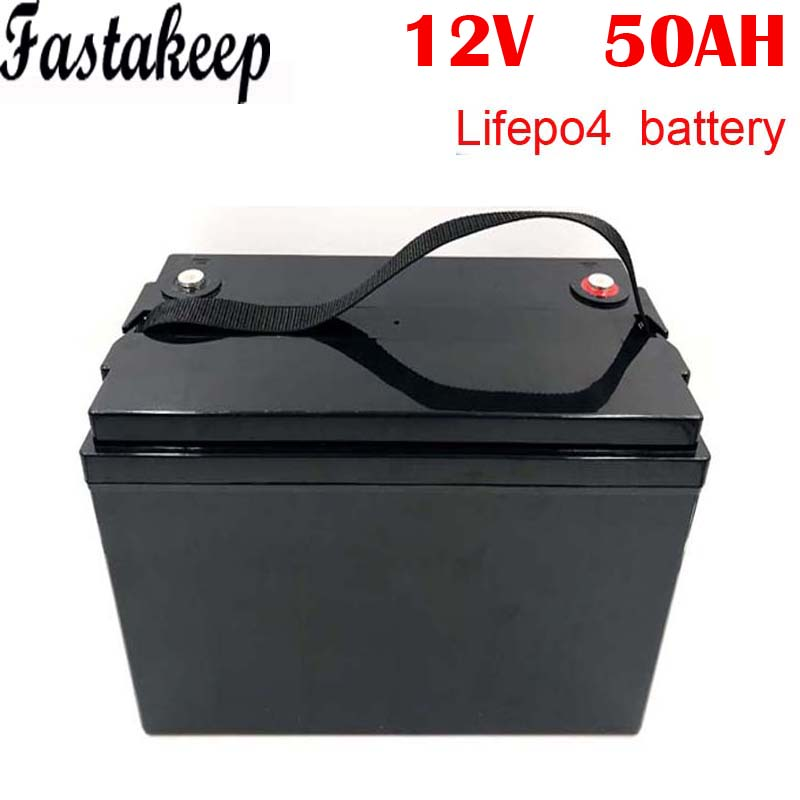 Rechargeable <font><b>12V</b></font> 50Ah 600Wh <font><b>lifepo4</b></font> <font><b>battery</b></font> pack image