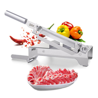 Stainless Steel Meat Slicer Small Herbal Medicine Thickness Adjustable Meat and Vegetables Slicer