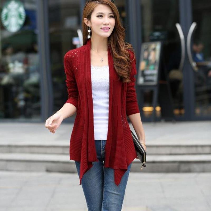 2018 Spring And Summer Womens Wear Ol, Slim, Long Knitted Sweater, Cardigan, Thin Coat, Shawl Girl.