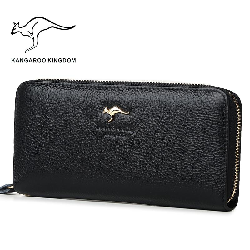 Image 3 - Kangaroo Kingdom Luxury Women Wallets Genuine Leather Pusre Brand Wallet Ladies Clutchwallet ladybrand women walletwomen brand wallet -